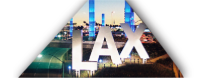 LAX Terminals airline and parking map for Los Angeles Airport
