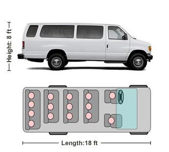 15 passenger van e350. Black Bedroom Furniture Sets. Home Design Ideas