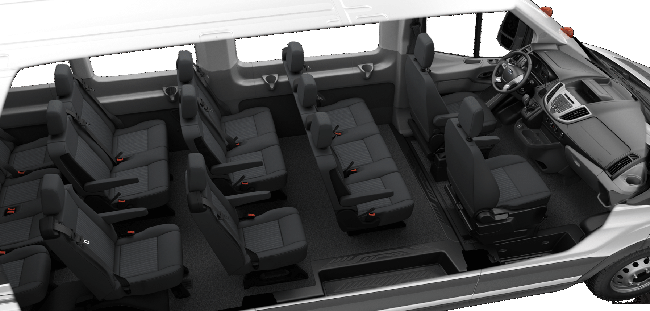 15 Pass High roof Seat arrangement